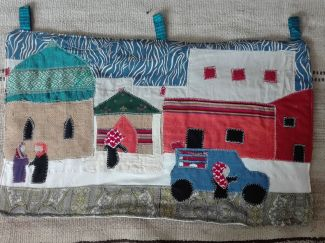 Handicrafts of recycled materials