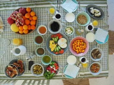 Breakfast table at Beit Al Baraka