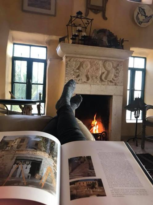 A cozy winter by the fireplace at Beit Al Fannan