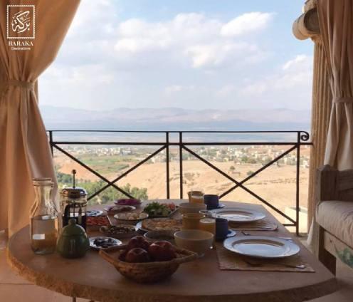 Breakfast at Beit Al Fannan at Pella