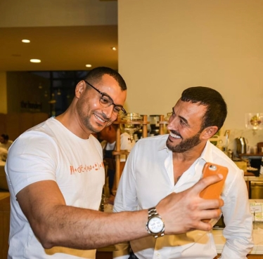 Ibrahim with Kadim Al Sahir